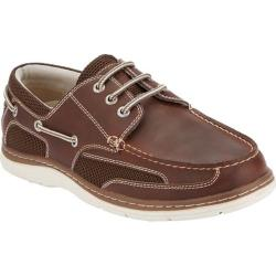 Men's Dockers Lakeport Boat Shoe Red Brown Leather