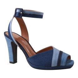Women's J. Renee Kinnon Ankle Strap Sandal Blue Multi Denim Fabric
