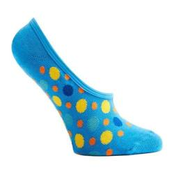 Women's Ozone Multicolored Dots 2 No Show Sock (3 Pairs) Blue