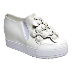 Women's Penny Loves Kenny Koi Slip-On Platform Wedge Sneaker White Polyurethane