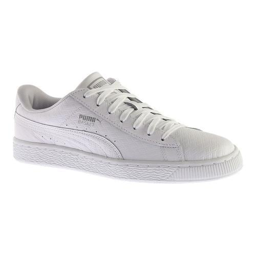 7bd28171867b1a Shop Men s PUMA Basket Classic B W Sneaker PUMA White - Free Shipping On  Orders Over  45 - Overstock - 14283786