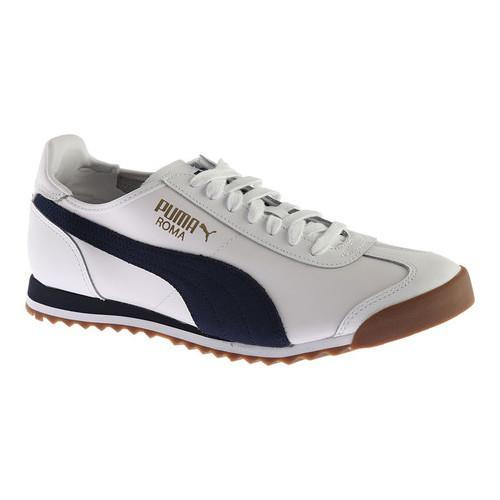 1a53eecb3af Shop Men s PUMA Roma OG 80s Sneaker PUMA White Peacoat - Free Shipping  Today - Overstock - 14283810