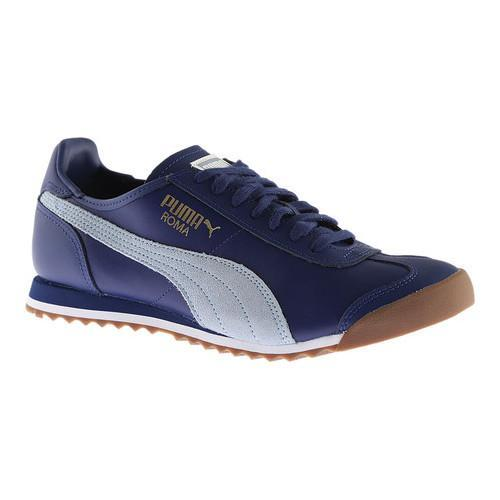 Shop Men s PUMA Roma OG 80s Sneaker Twilight Blue Blue Fog - Free Shipping  Today - Overstock - 14283811 33ad2a8e4