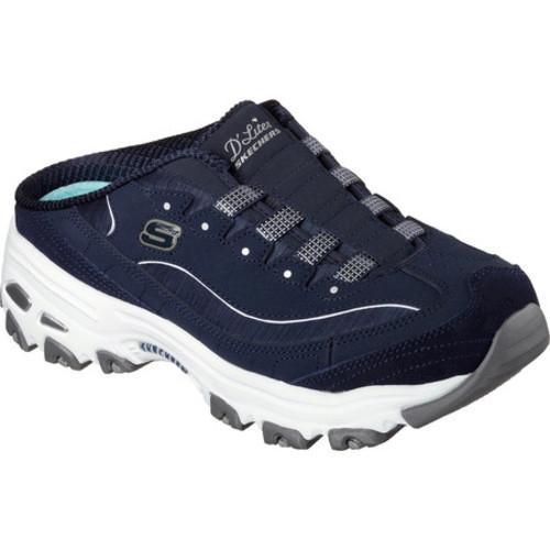 8f928a0e2ba3 Shop Women s Skechers D lites Resilient Sneaker Clog Navy White - Free  Shipping Today - Overstock - 14283843