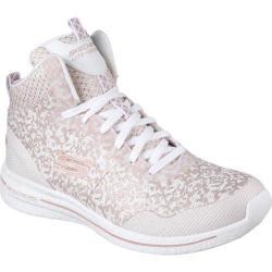 Women's Skechers Burst 2.0 Fashion Forward High Top White/Pink