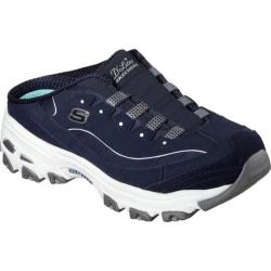 Women's Skechers D'lites Resilient Sneaker Clog Navy/White|https://ak1.ostkcdn.com/images/products/168/395/P20868566.jpg?impolicy=medium