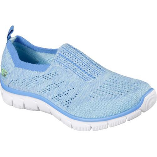 Skechers Empire Inside Look Womens Slip On Sneakers Light Blue 7