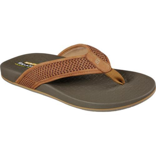 9699ac6627a2a7 Shop Men s Skechers Relaxed Fit Pelem Emiro Flip-Flop Natural - Free  Shipping On Orders Over  45 - Overstock.com - 14283905
