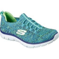 Women's Skechers Empire Sharp Thinking Slip-On Sneaker Blue/Lime