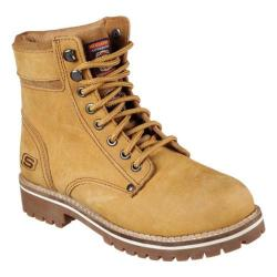 Women's Skechers Work Brooten Steel Toe Boot Caramel