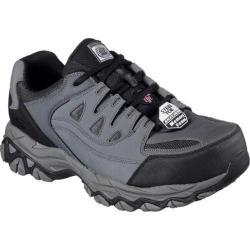 Men's Skechers Work Holdredge Steel Toe Sneaker Gray/Black