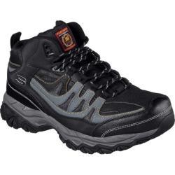 Men's Skechers Work Relaxed Fit Holdredge Rebem Steel Toe Hiker Black/Charcoal
