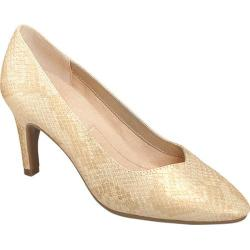 Women's A2 by Aerosoles Expert Pump Gold Snake Faux Leather