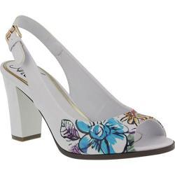 Women's Azura Priscilla Floral Slingback White Synthetic Leather
