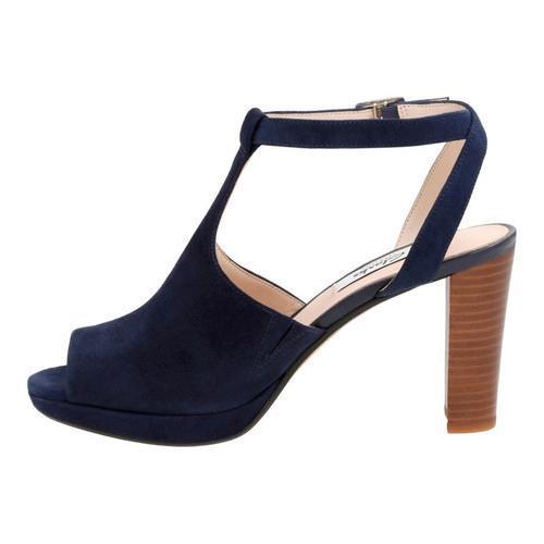 42638c76de3 ... Thumbnail Women  x27 s Clarks Kendra Charm Peep Toe Ankle Strap Sandal  Navy Suede