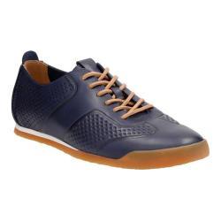 Men's Clarks Siddal Sport Sneaker Dark Blue Cow Full Grain Leather