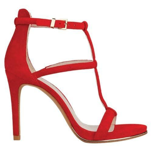 Factory Sale Kenneth Cole Bertel Sandal Women Womens Red Suede Kenneth Cole New York Womens Shoes