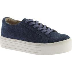Women's Kenneth Cole New York Abbey Platform Sneaker Blue Canvas