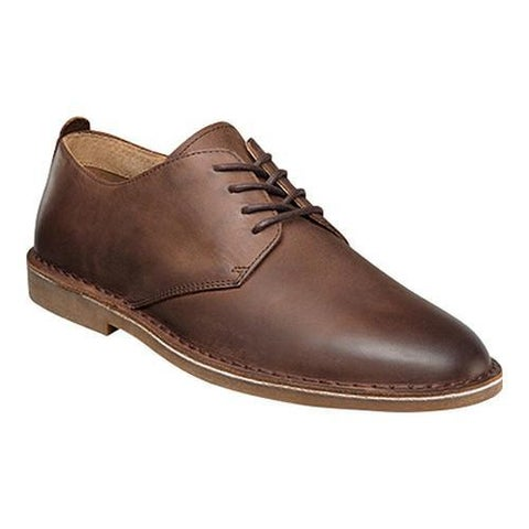 Men's Nunn Bush Gordy Plain Toe Oxford Tan Crazy Horse Leather