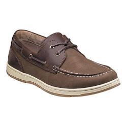 Men's Nunn Bush Schooner Moc Toe Two-Eye Boat Shoe Brown/Brown Leather