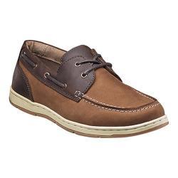 Men's Nunn Bush Schooner Moc Toe Two-Eye Boat Shoe Camel/Brown Leather