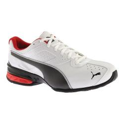 black red and white puma shoes