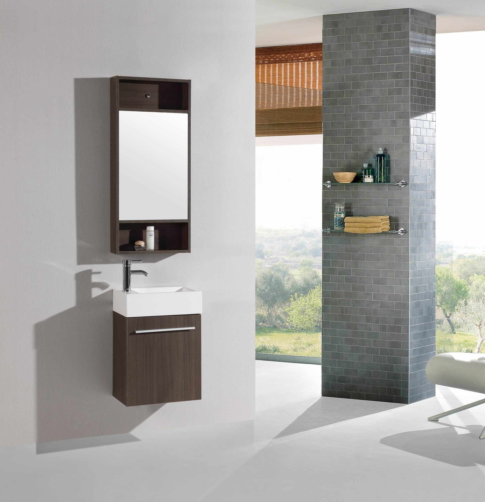 wall inch vanity linen faucet bathroom single wood cabinet sink mounted mirror white integral jet product include espresso