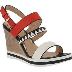 Women's Azura Antonietta Wedge Sandal Red Multi Synthetic Leather