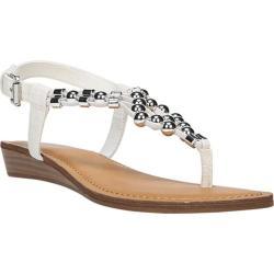 Women's Fergalicious Tito Sandal White Elastic Flat Gore