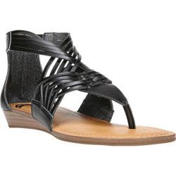 Women's Fergalicious Tizzy Sandal Black Dip Dye PU