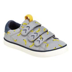 Boys' Hanna Andersson Marcus Hook-and-Loop Sneaker Light Grey Canvas
