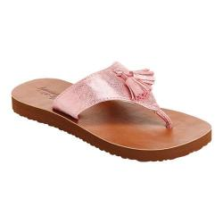 Girls' Hanna Andersson Tilde Tassel Flip Flop Pink Polyurethane