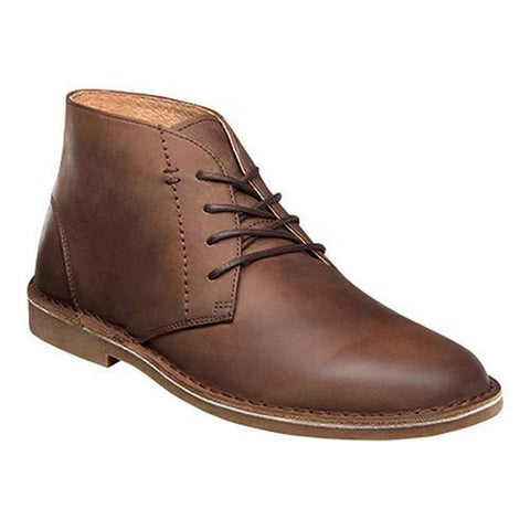Men's Nunn Bush Galloway Plain Toe Chukka Boot Tan Crazy Horse Leather