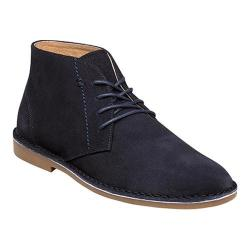 Men's Nunn Bush Galloway Plain Toe Chukka Boot Navy Suede