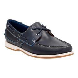 Men's Clarks Fulmen Row Boat Shoe Navy Cow Full Grain Leather