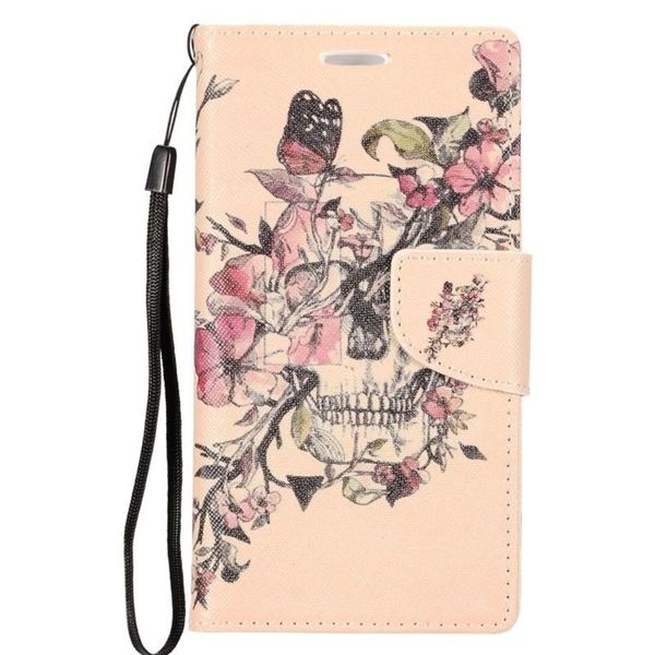 67067dc7b Insten Colorful Flowers Leather Case Cover Lanyard with Stand  Wallet Flap  Pouch  Photo Display