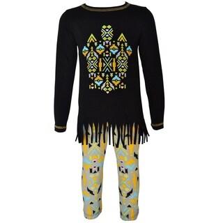 AnnLoren Girls Boutique Tribal Tunic & Aztec Legging Set