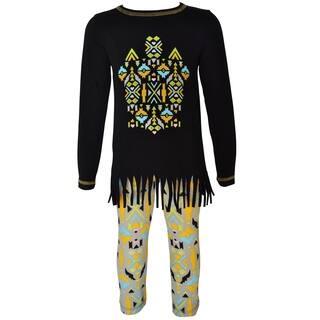 AnnLoren Girls Boutique Tribal Tunic & Aztec Legging Set|https://ak1.ostkcdn.com/images/products/16801877/P23106435.jpg?impolicy=medium