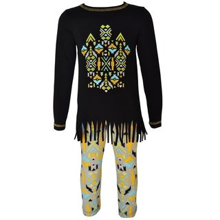 AnnLoren Girls Boutique Tribal Tunic & Aztec Legging Set