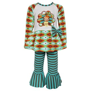 AnnLoren Girls Boutique Thanksgiving Turkey Holiday Tunic and Pants