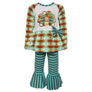 AnnLoren Girls Boutique Thanksgiving Turkey Holiday Tunic and Pants|https://ak1.ostkcdn.com/images/products/16801891/P23106437.jpg?impolicy=medium