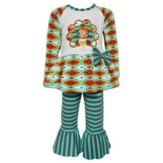 AnnLoren Girls Boutique Thanksgiving Turkey Holiday Tunic and Pants (5 options available)