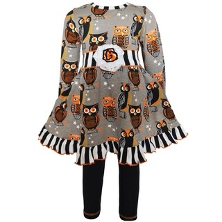 AnnLoren Girls Boutique Autumn Owl Dress and Leggings Set|https://ak1.ostkcdn.com/images/products/16801896/P23106441.jpg?_ostk_perf_=percv&impolicy=medium
