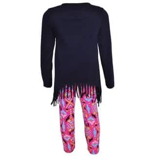 47171fd01 SALE. AnnLoren Girls Heart Emoji High Low Tunic & Aztec Leggings Set Set Set