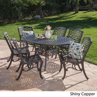 Windley Outdoor Expandable Aluminum Dining Set with Umbrella Hole by Christopher Knight Home (4 options available)