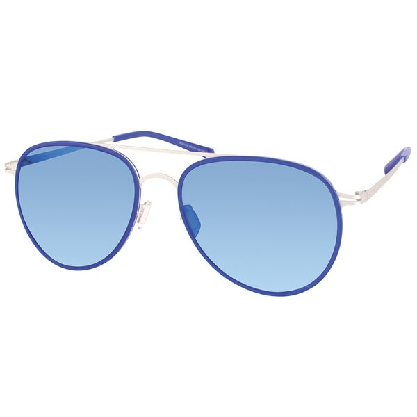 1ecf0f043d6 Shop Modo Oval Unisex Blue Frame Blue Mirror Polarized Lens Sunglasses -  Free Shipping Today - Overstock - 16802601