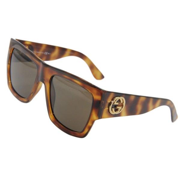 ed4f343615c Shop Gucci GG 3817 S Light Havana Frame Black Lens Sunglasses - Free ...