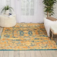 "Nourison Passion Teal/Sun Runner Rug - 2'2"" x 7'6"""