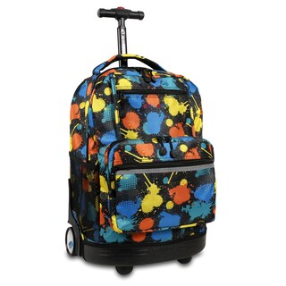 J World New York Sunset Splatter Rolling 15-inch Laptop Backpack