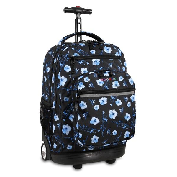 J World New York Sundance Night Bloom Rolling 15-inch Laptop Backpack